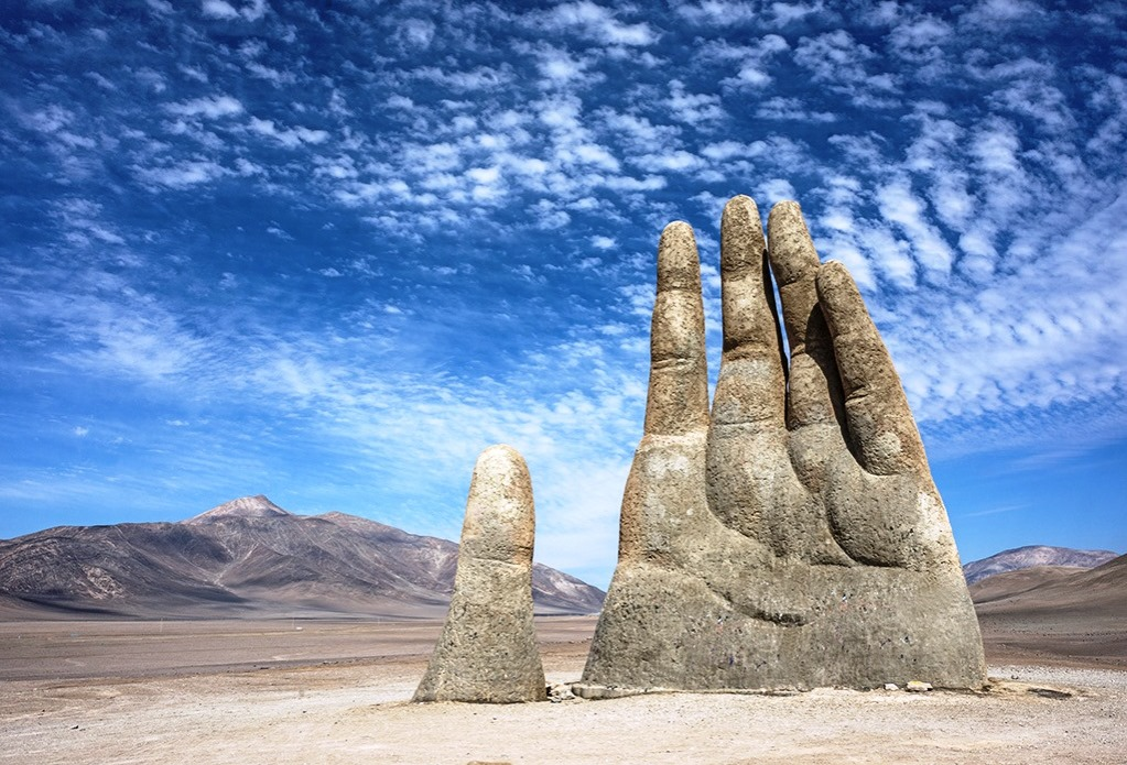 The Hand of Desert in Chile - Charismatic Planet