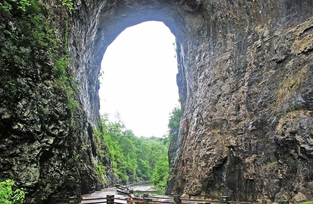 Natural Bridge once ranked with Niagara Falls as one of the two natural wonders of the New World.