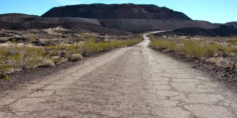 The site of the Mount Pisgah Volcanic Cinders Mine, that produced pumice for commercial use and various cinder products, and sand was used to depict black sands of Iwo Jima in the film Letters from Iwo Jima.