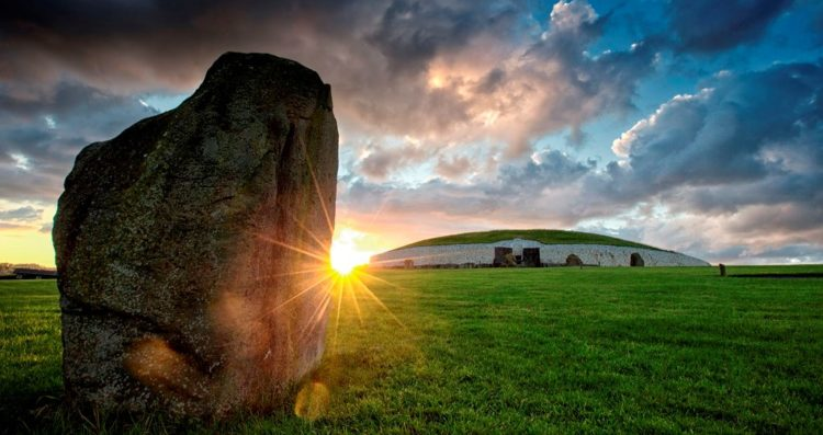 Newgrange is a famous prehistoric monument in Ireland, located one KM north of the River Boyne.