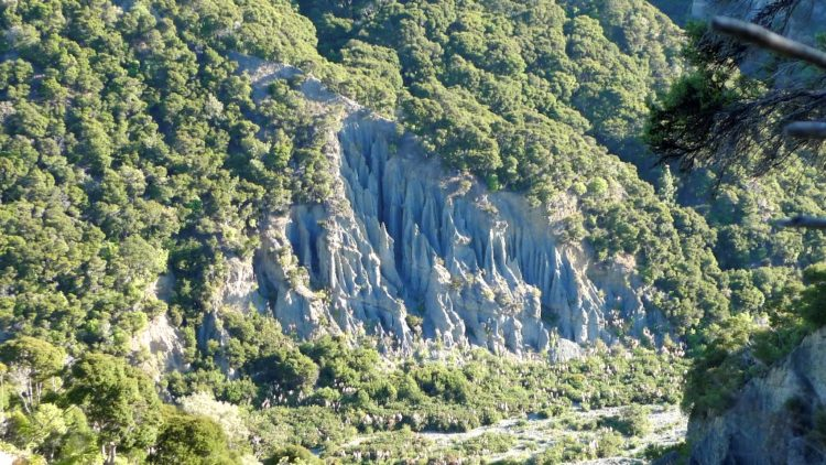 The Putangirua Pinnacles are also known colloquially simply as The Pinnacles, which are a geological formation, consists of massive number of earth pillars or hoodoos
