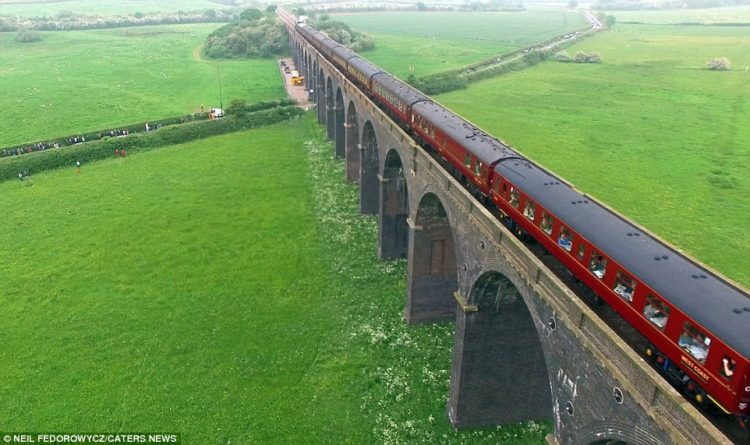 The viaduct was built in Doncaster, South Yorkshire, in 1923; the Flying Scotsman in 1934 pulled the first train to break the 100mph barrier.