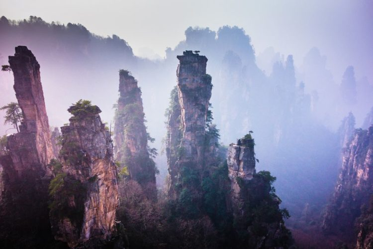 The majestic view of Wulingyuan area of Zhangjiajie, China
