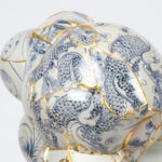 Korean Artist Gives New Life to Shattered Porcelain Fragments by Stitching Them with Gold