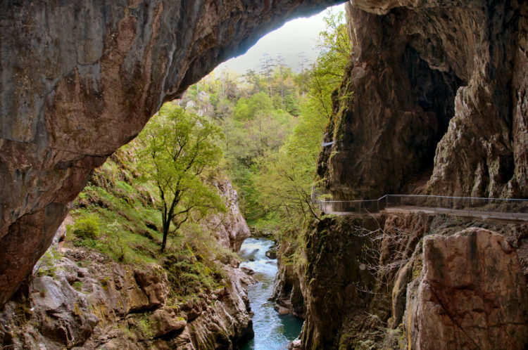 Looking back to the entrance of the new tour into Skocjan Caves.