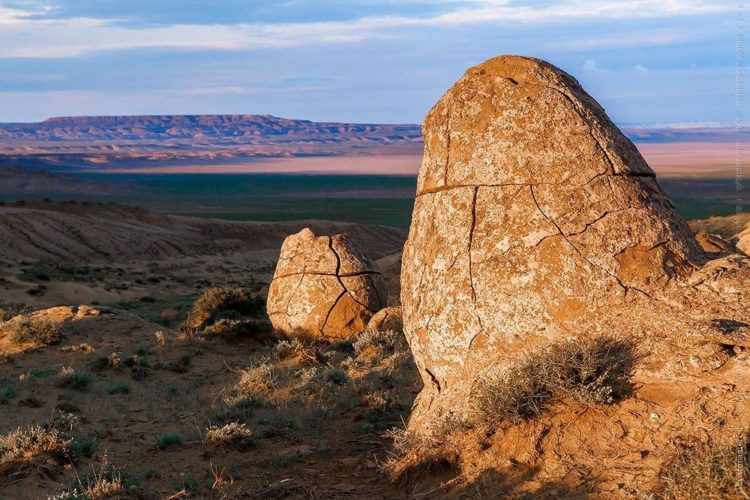 The balls sizes are vary, but most of them are 3 to 4 meters in diameter. Photo Credit: aboutkazakhstan.com