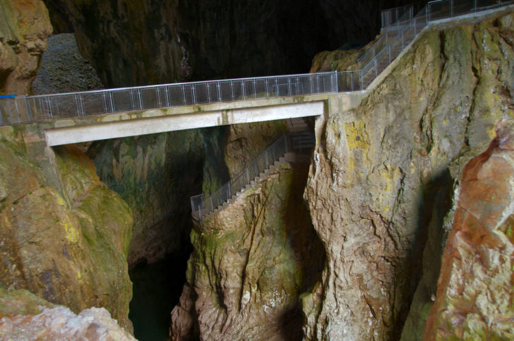 Skocjan Cave may not be the most beautiful one when it comes to stalagmites or stalactites,