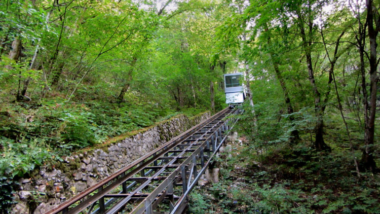 There is a cable car at the end to take you back to the top and save you a long climb back.