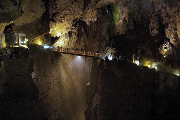 You will never see such a huge cavern in the rest of Europe, let alone walk across it on a bridge