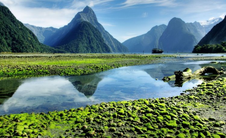 In New Zealand, one of most photographed mountain is Mitre Peak,