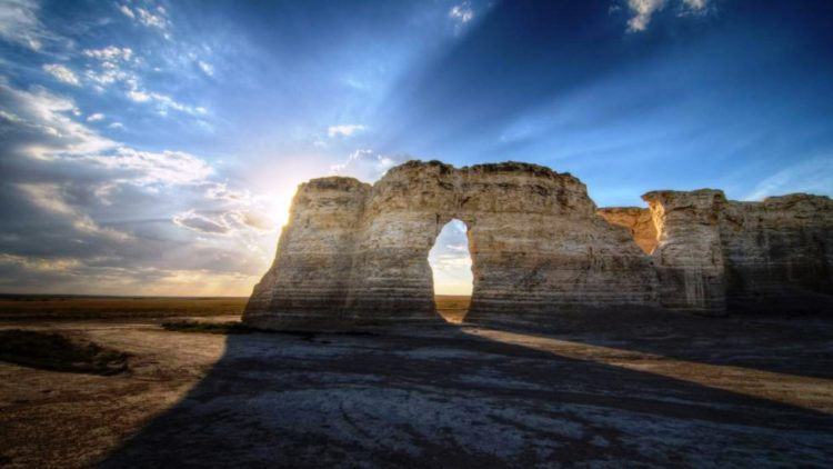 Monument Rocks are also called Chalk Pyramids actually a series of large chalk formation in Gove County, Kansas.