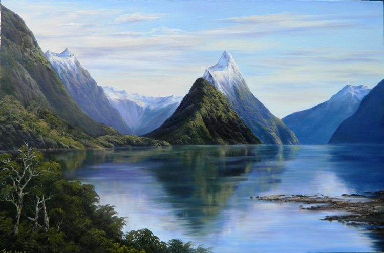 The State Highway 94 is most scenic roads in New Zealand leads to Milford Sound.