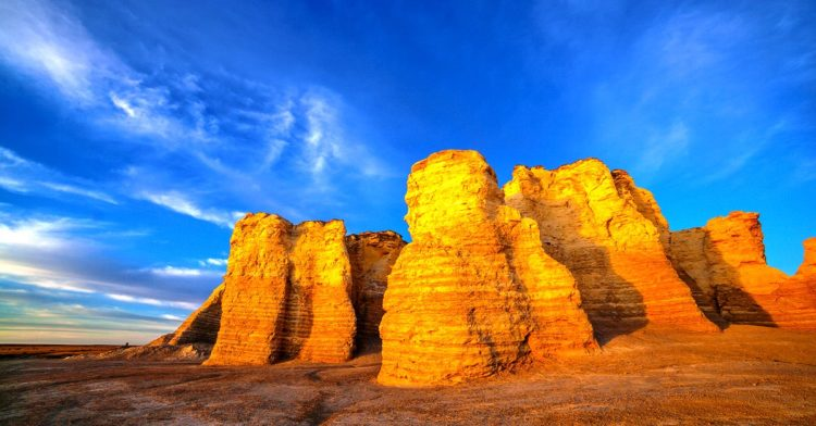 The area is scientifically significant fossils these ancient chalk beds have formed highly eroded into unusual spires and shapes, making them spectacular landmarks on the plains of western Kansas!