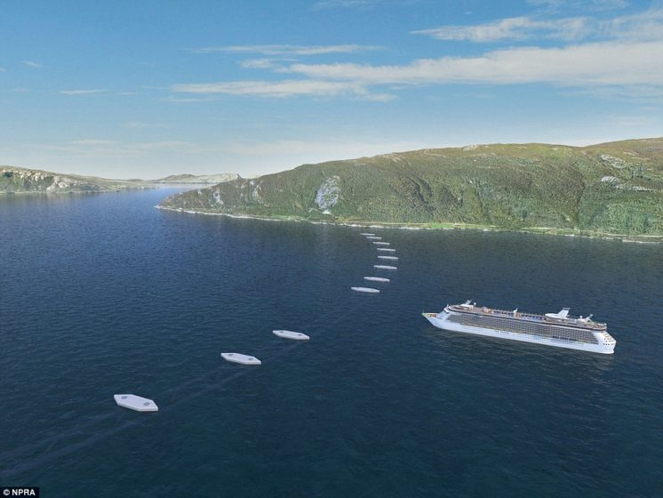 The vertical position of the tubes will be controlled by a series of pontoons that will be floated on the surface of the fjord.