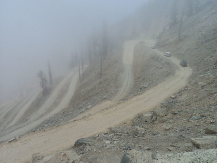 Lowari Top / Lowari Pass is a relatively low pass, by far the lowest pass to enter Chitral, the others all being 12,000 to 15,000 feet.