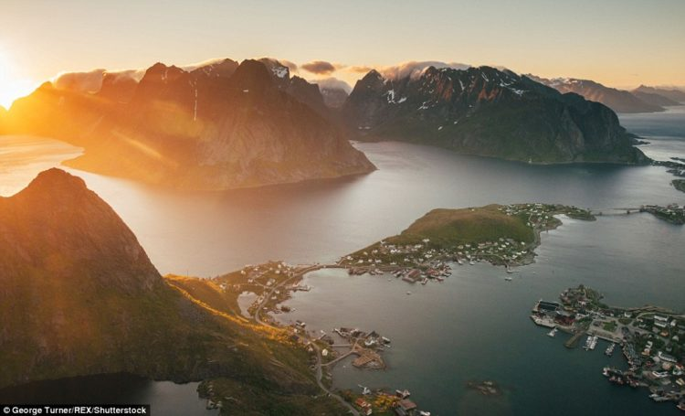 A view of Reine from its namesake, Reinebringen, Norway. Turner spent over 4 hours at the top but even 40 wouldn't have been enough