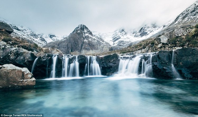 The Fairy Pools on the Scottish Isle of Skye, which Turner says is one of his favourite places
