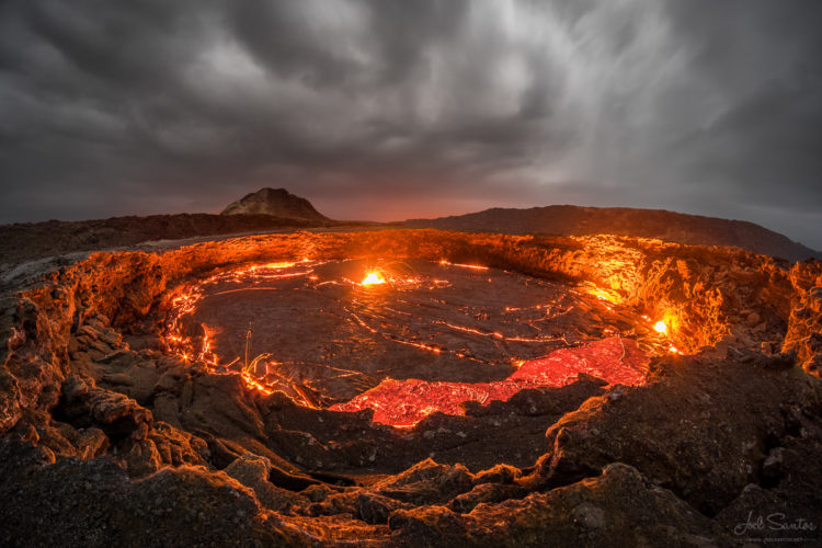 Ethiopia's Erta Ale shield volcano, located in one of the world's hottest places, is home to one of the few lakes of permanent molten lava on Earth and while popular with travellers