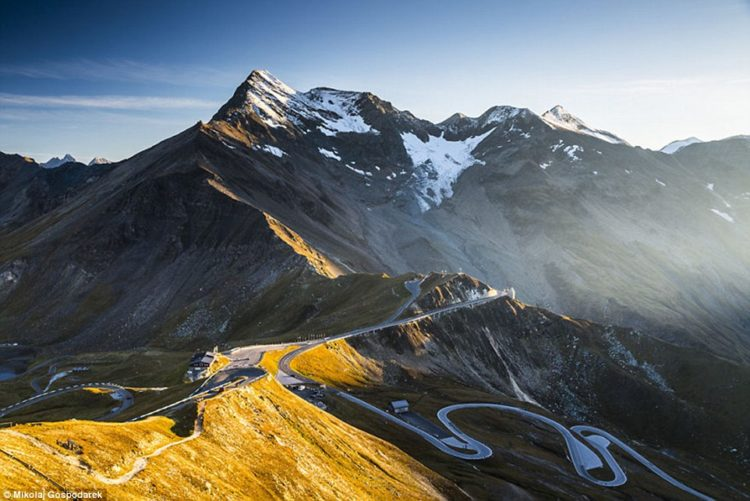 Gospodarek has built up an incredible series of images showing various points along the route