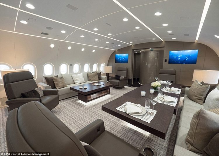 this-is-the-first-boeing-787-dreamliner-ever-to-be-converted-into-a-private-jet-custom-built-for-corporate-flyers-and-boasts-luxury-furnishings-and-plenty-of-room-for-dining-and-entertaining