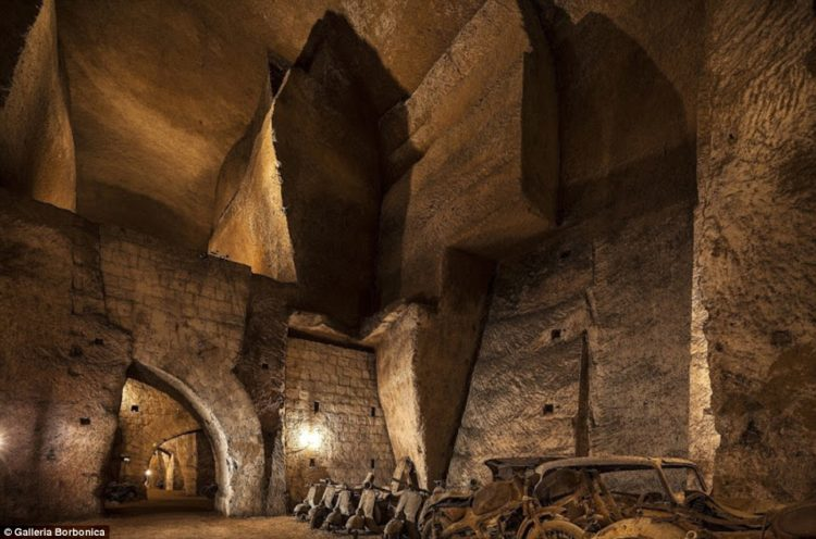 Impounded retro motorbikes languish 100 feet below ground in the 16th century aqueducts