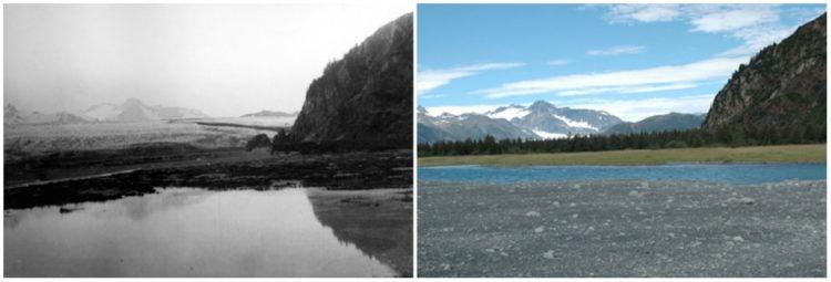 Bear Glacier, Alaska. July, 1909 — August, 2005.