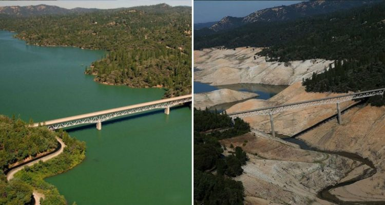 Lake Oroville, California. July, 2010 — August, 2016.