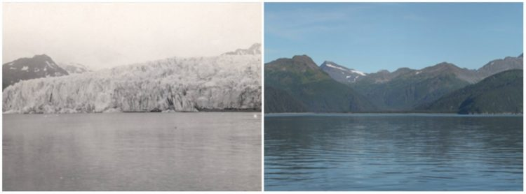 McCarty Glacier, Alaska. July, 1909 — August, 2004.