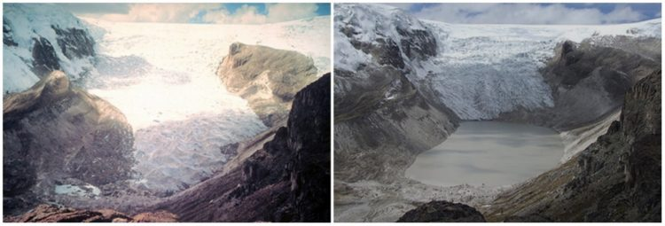 Qori Kalis Glacier, Peru. July, 1978 — July, 2011