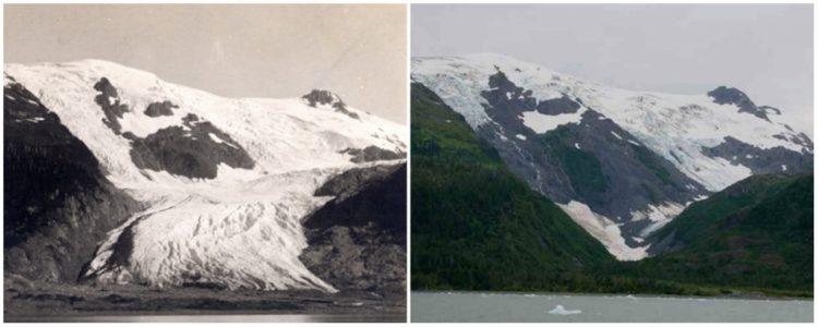 Toboggan Glacier, Alaska. June, 1909 — September, 2000.