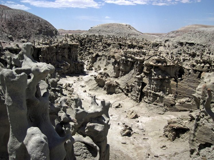 This region is may be hard to get to, but one is rewarded by a short easy walk of less than one mile through a variety of fantastic formations.