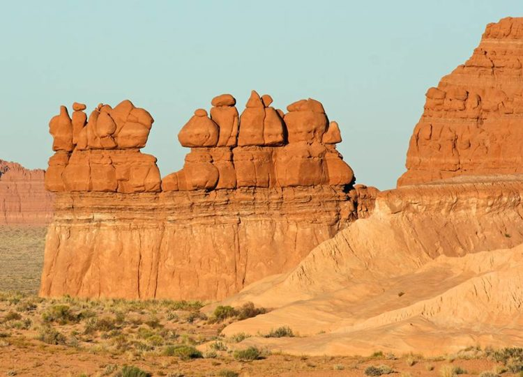 The landscape, covered with sandstone goblins and formations, is often compared to Mars. Explore the geology, camp among the nooks and gnomes.Photo Malgorzata Litkowska-Shutterstock