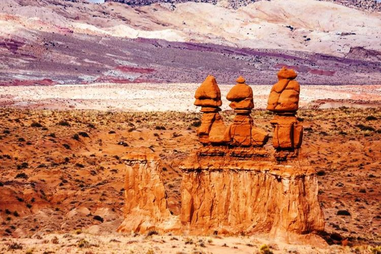 """The strange hoodoos were formed by the erosion of the so-called """"Entrada sandstone"""", formed during the Jurassic period between 170 million years ago. Photo kojihirano-Shutterstock"""