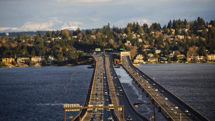The Lacey V. Murrow Memorial Bridge, the 2nd longest bridge in the world, lies across the same lake just a few miles to the south, and is 2,020 meters long.