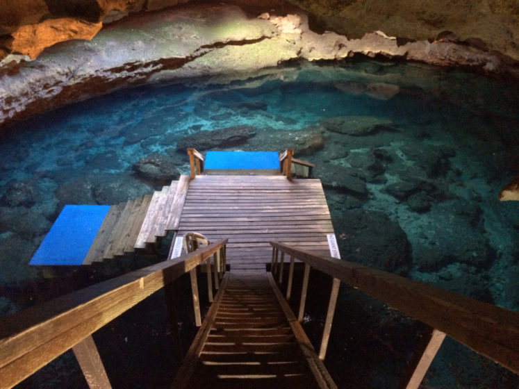 It is privately owned and operated as a SCUBA diving training and recreational facility. The cave was opened to the public as a dive site in the early 1990s.