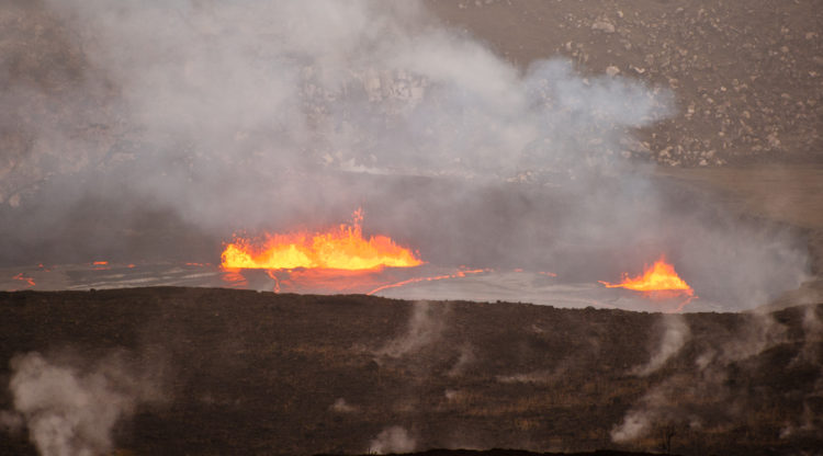 Halema'uma'u lava lake on March 6, 2017