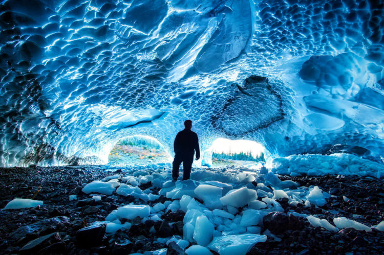 Ice caves are the amazing wonders of nature, hiding under the glaciers. Many tours to the glaciers include visiting the caves