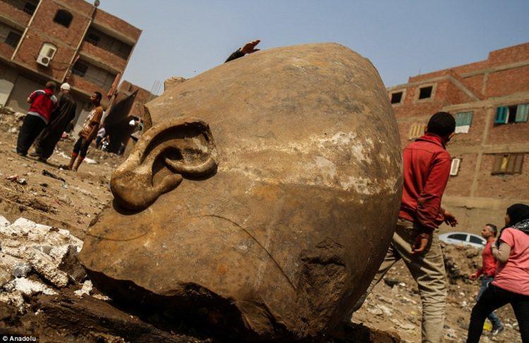 The Massive head of the statue