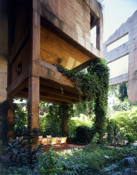 The exterior was laced with vegetation, and now overflows with lush greenery