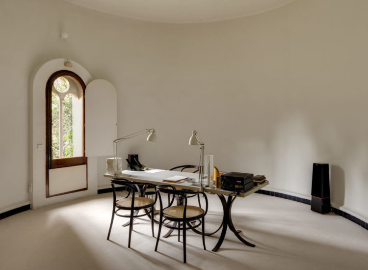 Work space is also a crucial component here, as Bofill's team uses part of the residence as a studio