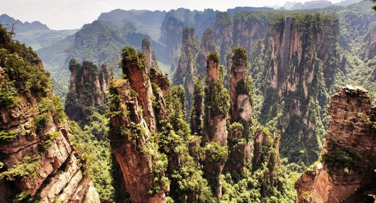 It is located in Zhangjiajie in the Hunan Province of China, nearby to the Suoxi Valley. The movie theme park has been created they're.