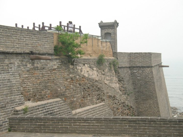 Shanhaiguan or Shanhai Pass is one of the main passes of the Great Wall of China located south of Yan Mountain, and north of the Bohai Sea.