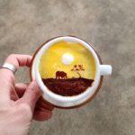 Korean Artists Creates Amazing Art on Coffee