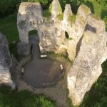 The Ruined Odiham Castle in Hampshire, United Kingdom