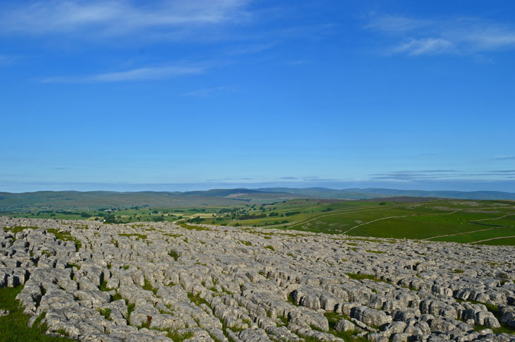 The amazing limestone pavements are areas of flat, uncovered and weathered limestone rock surfaces.