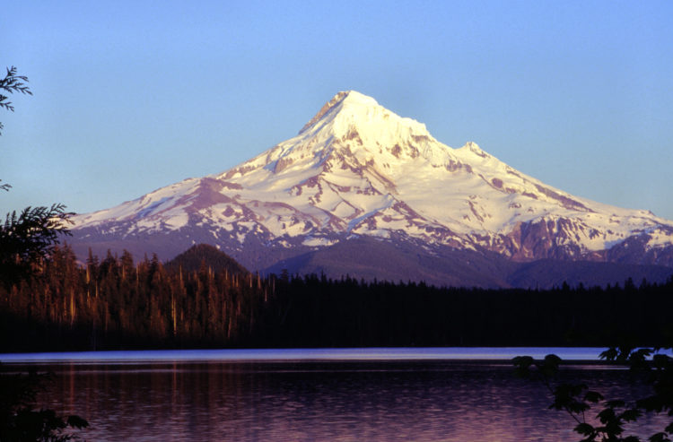 Mount Hood as seen from Lost Lake, Oregon