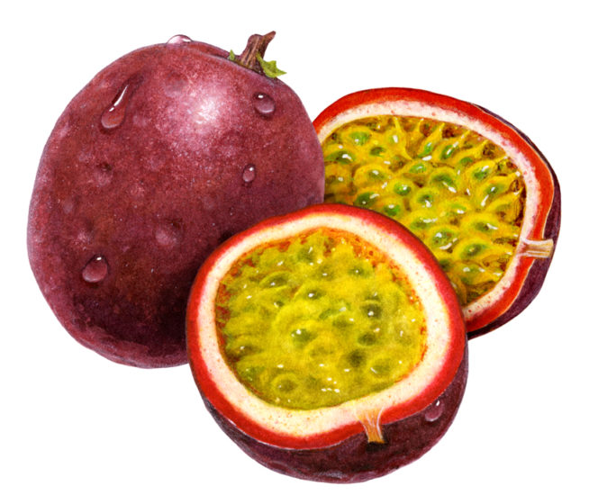 Passion-Fruit usually found bright red in color but variations can exist, you might also get to see them half green and half red and quite bulky in size.