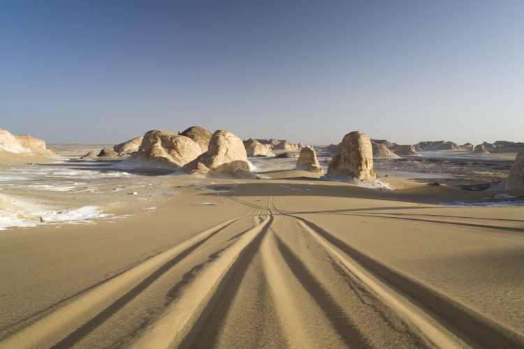 The White Desert is a widely held tourist spot for it's melodramatic and rare rock formations.