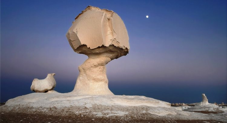 """The exclusive calcium rock formations crop up across the landscape like great abstract statues, resemble food, names like """"mushroom"""" and """"ice-cream cone,"""""""