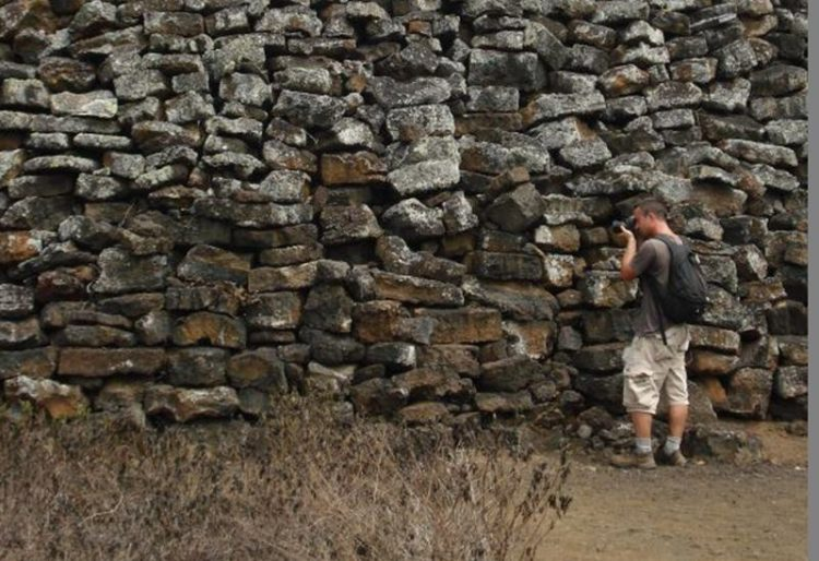 The Wall of Tears is an historical site just five kilometers west of Puerto Villamil on Isabela Island in the Galapagos Islands, Ecuador. Image credit Andy Hares